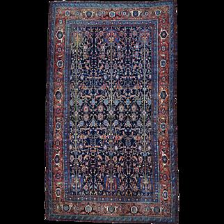 Oversize Antique Persian Senneh Pure Wool Oriental Rug Sh30130