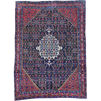 Antique Persian Senneh Hand Knotted Exc Cond Rug Sh30154
