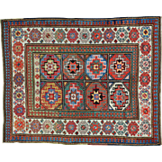 Antique Caucasian Moghan Kazak Exc Cond Hand Knotted Rug Sh30156