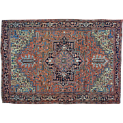 Hand Knotted Antique Persian Heriz Exc Cond Oriental Rug Sh30158