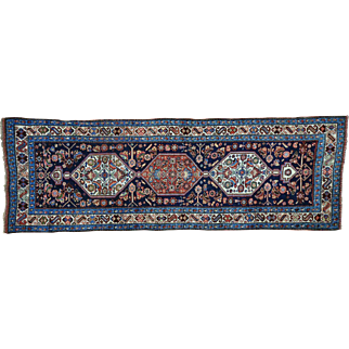 Antique Persian Bidjar Wide Runner Good Cond Handmade Rug Sh30161