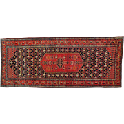Antique Persian Bidjar Exc Cond Wide Runner Handmade Rug Sh30162