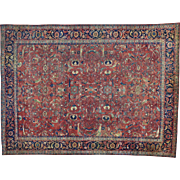 Antique Persian Mahal Even Wear Hand Knotted Oriental Rug Sh30163