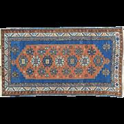 Antique Caucasian Kazak Good Cond Wide Runner Handmade Rug Sh30176