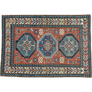 Antique Caucasian Kazak Good Cond Hand Knotted Rug Sh30177