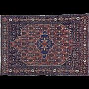 Antique Persian Bidjar Good Cond Hand Knotted Oriental Rug Sh30178