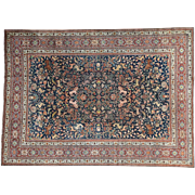 Antique Persian Tabriz With Lions And Deers Good Cond Rug Sh30181