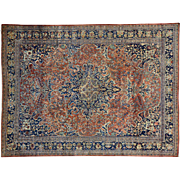 Antique Persian Fereghan Sarouk Mint Cond Oriental Rug Sh30266