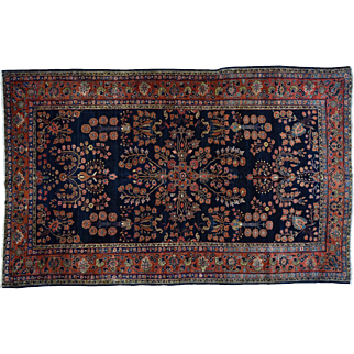 Hand-Knotted Antique Persian Mahajeran Sarouk Oriental Rug Sh30920