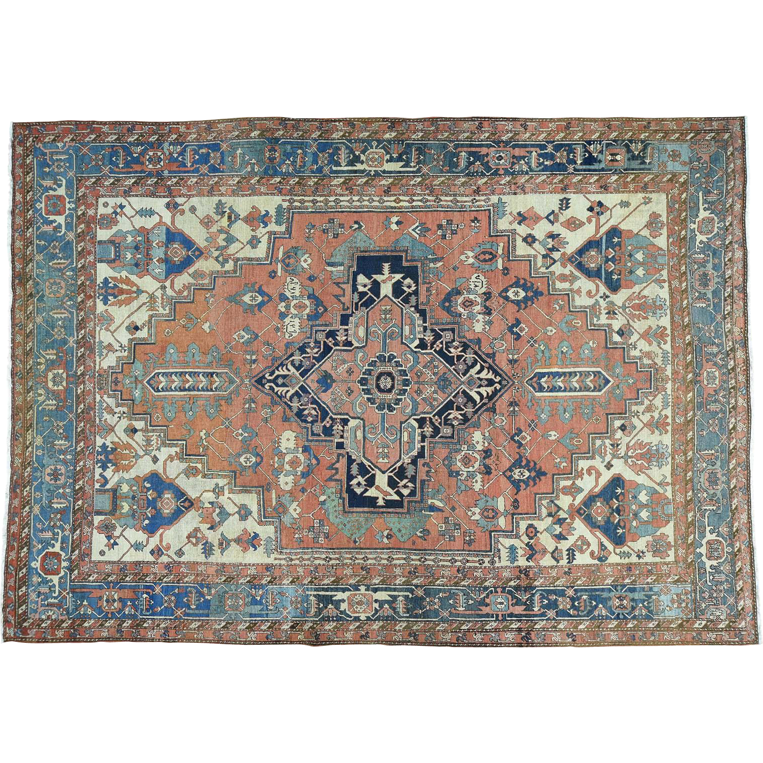 Oriental Rugs Red Bank Nj: Hand-Knotted Oversize Antique Persian Serapi Oriental Rug