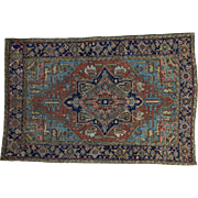 Hand-Knotted Antique Persian Heriz Good Cond Oriental Rug Sh30924