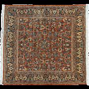 Antique Persian Sarouk Square Full Pile Mint Cond Oriental Rug Sh31297