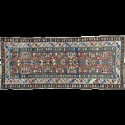 Antique Kazak Exc Cond Wide Runner Pure Wool Oriental Rug Sh32025