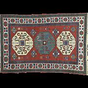 Antique Kazak Exc Cond 100 Percent Wool Oriental Rug Sh32026