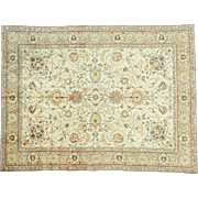 Antique Persian Tabriz Hand-Knotted Full Pile Oriental Rug Sh32137