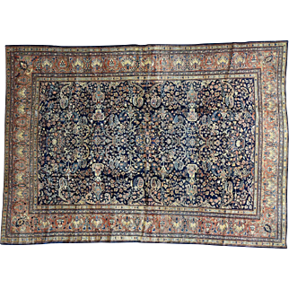 Antique Persian Fereghan Sarouk Exc Cond Hand-Knotted Rug Sh32156