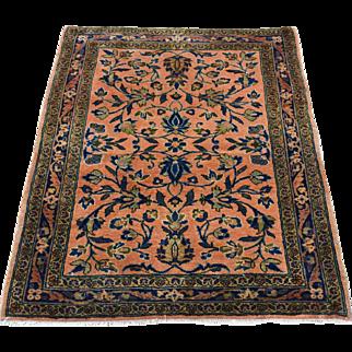 Antique Manchester Kashan Mat Hand-Knotted Oriental Rug Sh32159
