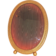 Large Gorham Gilt Ormolu Beveled Glass Picture Frame
