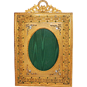 French Regency Neoclassical Gilt Ormolu and Jeweled Picture Frame