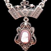 Stunning Victorian 14K Cameo Necklace/Brooch