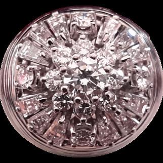 18K White Gold, Platinum & 3.12 Ct. Diamond Cluster Ring Appraised at $10,250