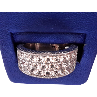 14 k white gold and diamond band - Appraised