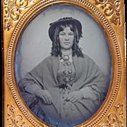 Ambrotype 6th Plate Original Seals 1850s Antebellum Woman Portrait