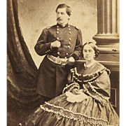 WASHINGTON DC Addis McClees GALLERY Major GENERAL McCLELLAN & Wife MILITARY CDV