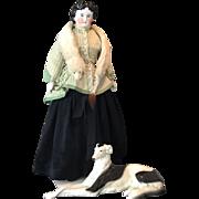 Rare Antique China Head doll 19th century