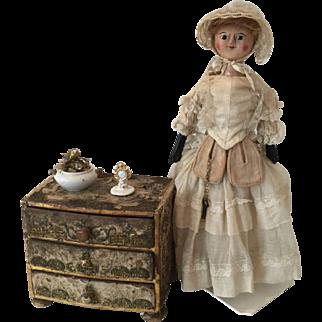 Antique Miniature Commode 18th-19th century