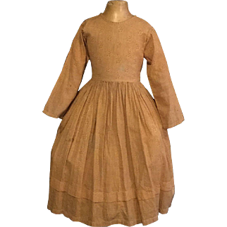Antique Early Child dress ca. 1860