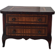 antique French  wooden miniature commode 19th century