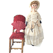 Rare  Antique Queen Anne Doll ca. 1790