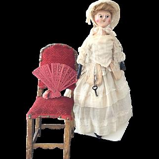 Rare  Antique Queen Anne Doll ca. 1790
