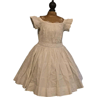 Antique Dress for a large Doll ca. 1860
