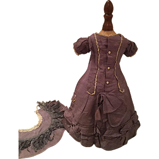 Antique Dress for fine French or German Doll, ca.1880