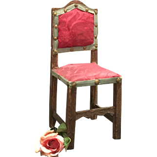 wonderful very early Doll Chair  for a Queen Anne Doll for example