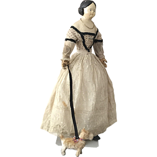 Antique Papiermache Doll ca. 1850