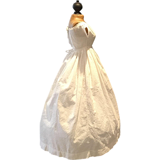 Antique early French Doll Dress ca. 1830