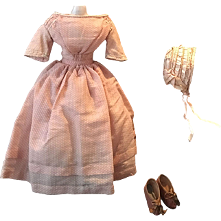 Wonderful Antique 3-pieces Ensemble, ca 1840