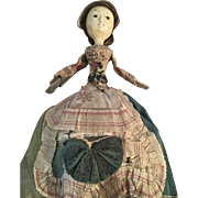 Antique George ll Wooden Doll, England 1740
