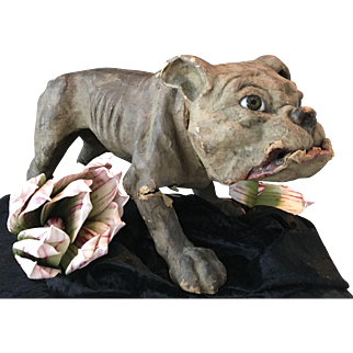 Antique French Roullet & Decamps bulldog to restore