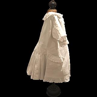 Antique white Cotton  Pique Dress for a Jumeau Doll, 19th Century