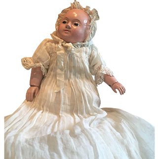 Antique early Papier Mache Motschmann  Baby finest Quality