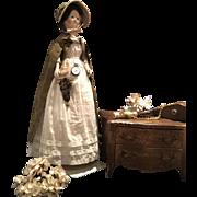 Rare Antique Georgian Wooden Doll 18 th Century