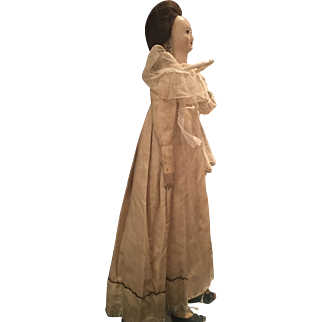 Original French 18th century Carton Moule Doll