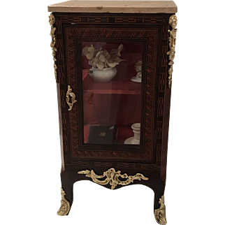 Elegant Antique French Miniature Vitrine,  19th Century for an early Doll