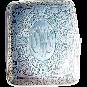 R. Blackinton Ornate~Sterling Silver Cigarette Case~Monogrammed