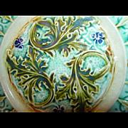 Antique~French~Sarreguemines~Art Nouveau Plate - Red Tag Sale Item