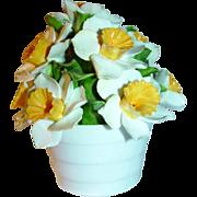 Vintage Aynsley Bone China Daffodil Bouquet~Basket